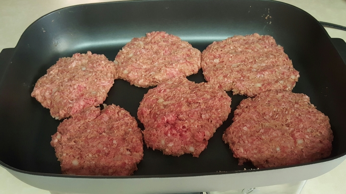 Don't judge my patty sizes. I hate working with ground beef.