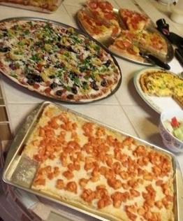 Leftover pizzas